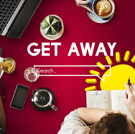Get away travel planning concept