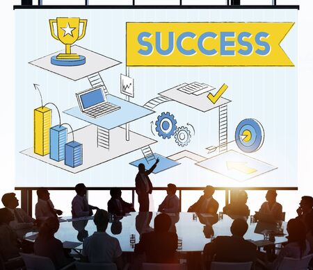 Success Mission Process Goal Planning Concept Stock Photo