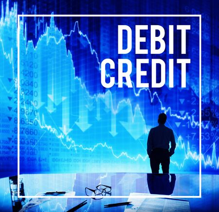 owed: Debit Credit Financial Accounting Payment Concept Stock Photo
