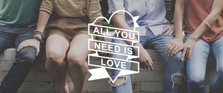conquers: All You Need Is Love Heart Graphic Concept Stock Photo