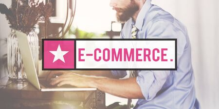 web marketing: E-commerce Data Digital Marketing Internet Web Concept