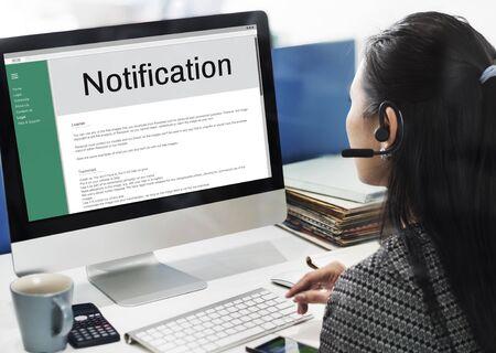 press agent: Notification Alert Icon Inbox Internet Message Concept
