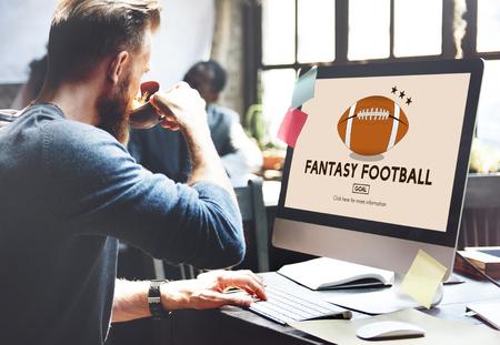 Fantasie-Fußball-Unterhaltung Game Play Sport-Konzept Standard-Bild