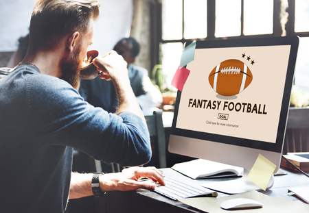 Fantasy Football Zábava Game Play Sport Concept Reklamní fotografie