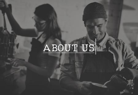 about us: About Us Communication Data Information Service Concept