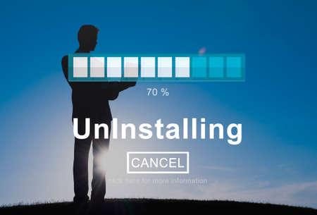 cancellation: Uninstalling Remove Delete Cancellation Uninstall Concept