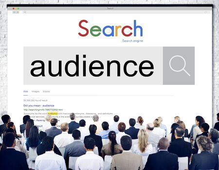 admirers: Audience Crowd Clientele Turnout Concept Stock Photo