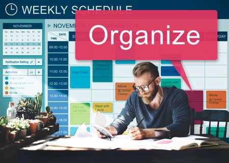 weekly: Weekly Schedule Reminder Activities Planner Concept Stock Photo