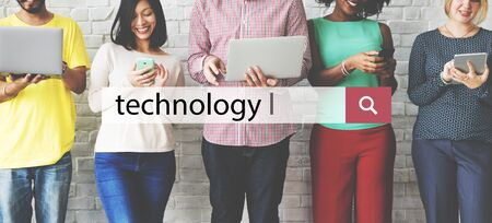 innovating: Technology Data Digital Evolution Internet Concept