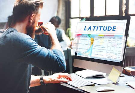cartography: Longtitude Latitude World Cartography Concept Stock Photo