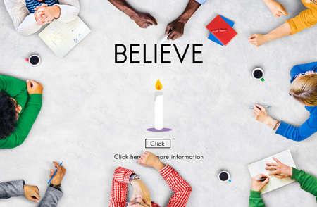believe: Cree la fe de confianza de fidelizaci�n mentalidad de Confianza Concepto