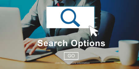 Search Options Internet Selection Homepage Concept