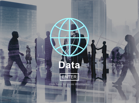 rush hour: Data Global Information Icon Concept Stock Photo