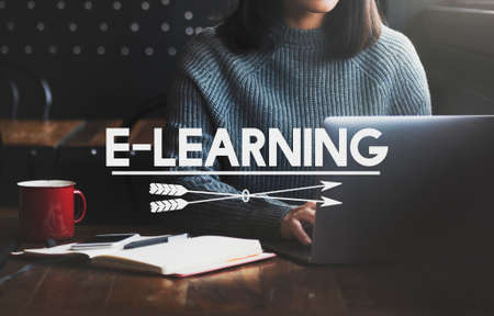 instructional: E-Learning Education Media internet Networking Concept