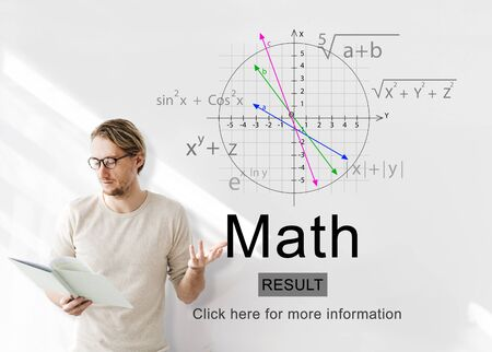 ordinate: Math Mathematic Education Knowledge School Concept Stock Photo