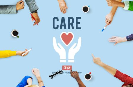 foundation: Care Give Charity Share Donation Foundation Concept