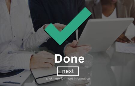 finished: Done Achievement Finished Goal Positive Ready Concept