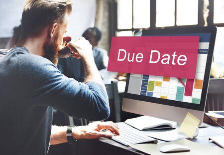 due: Due Date Deadline Appointment Event Concept