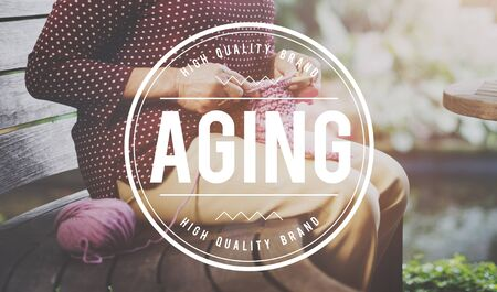 aging: Aging Mature Natural Senior Care Adult Concept Stock Photo