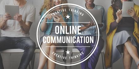 web security: Online Communication Connection Browsing Concept Stock Photo