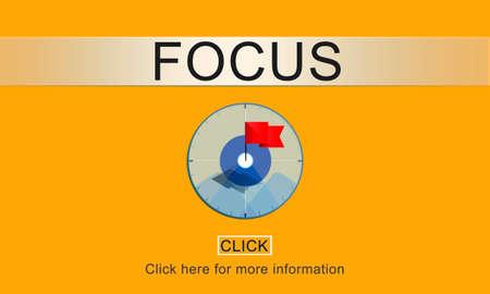 determine: Focus Determine Focal Point Spotlight Vision Concept