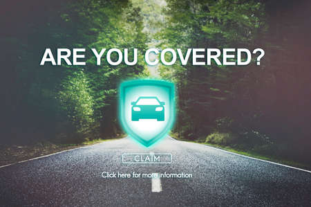 emergency lane: Are You Covered Accident Insurance Property Concept