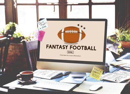 Fantasy Football Entertainment Game Play Sport Concept Stock Photo