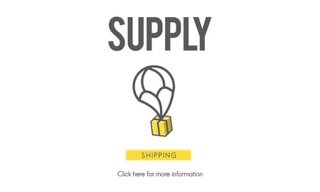 provide: Supply Logistic Networking Distribution Stock Concept Stock Photo