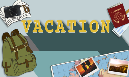 Illustrations with vacation concept