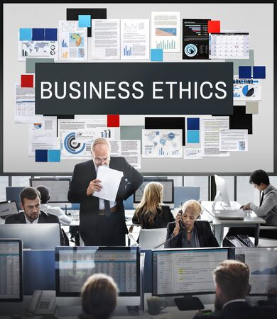 insider trading: Business Ethics Honesty Integrity Concept