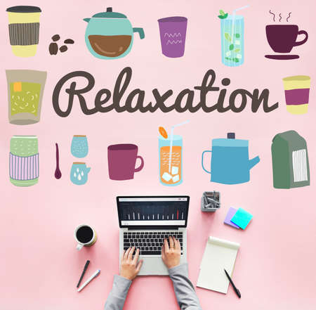 chill: Relaxation Calm Chill Freedom Peace Rest Serenity Concept Stock Photo