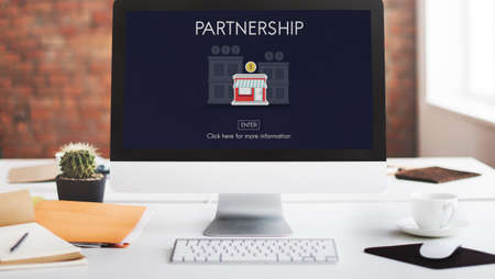 growing partnership: Partnership Launch Startup New Business Concept