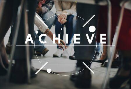 skills diversity: Achievement Mission Success Accomplishment Concept Stock Photo