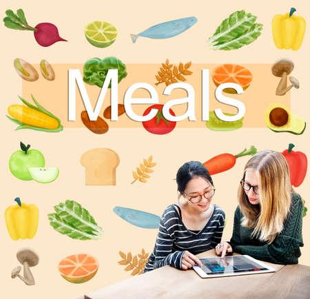 kulinarne: Posiłki kuchnia kulinarne jadalnia jedzenie Beverage koncepcji