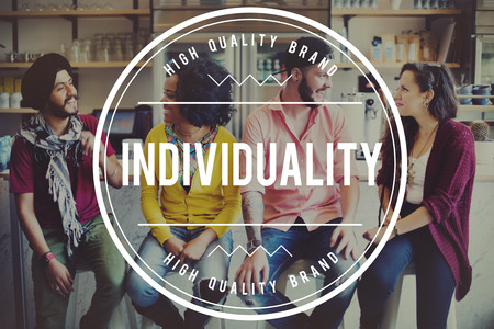standout: Individuality Individual Standout Outstanding Distinctive Concept Stock Photo