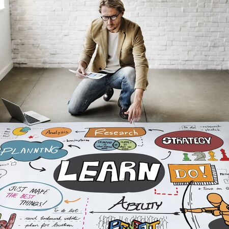 architectural studies: Learn Learning Development Education Knowledge Concept Stock Photo