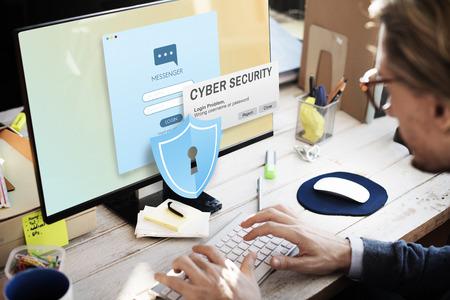 Cyber ??Security Firewall Concepto de Privacidad Foto de archivo - 58755258