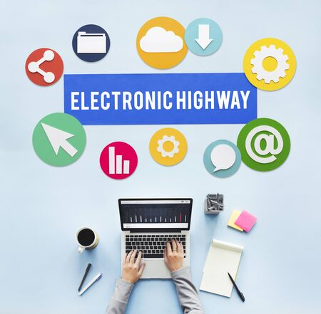 information highway: Electronic Highway Internet Information Online Concept Stock Photo