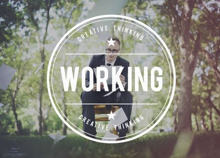effective: Working Work Effective Productive Step Planning Concept