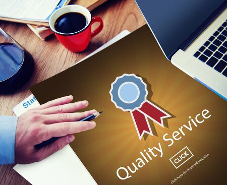 excellent work: Quality Service Assistance Care Customer Concept Stock Photo