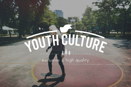 adolescencia: Adolescencia Generaci�n Cultura juvenil Estilo de Vida Foto de archivo