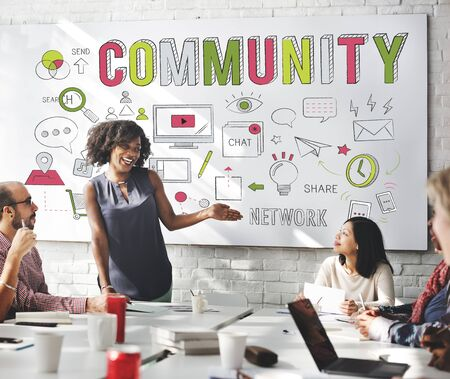 Community Society Sharing Communication Belonging Concept Stock Photo