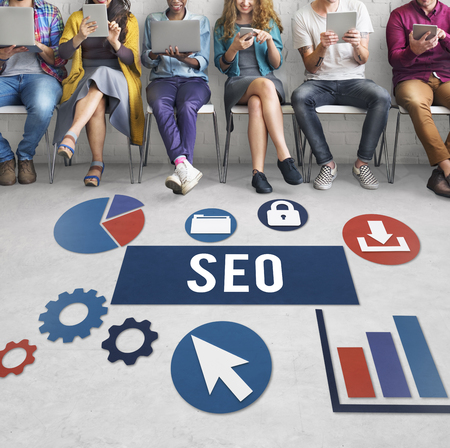 friend chart: Seo Search Engine Optimization Searching Concept Stock Photo