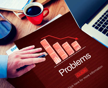 with difficulty: Problems Difficulty Failure Mistake Negative Concept Stock Photo