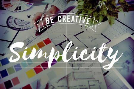 and simplicity: Simplicity Art Design Plan Creative Concept