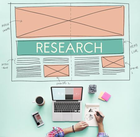Research Discovery Explanation Information Concept Stock Photo
