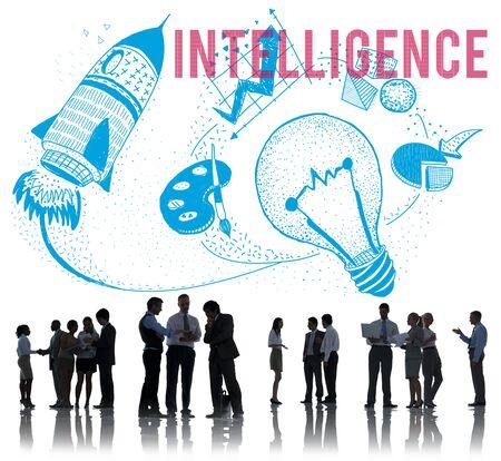 inteligent: Intelligence Ideas Creativity Imagination Light Bulb Concept