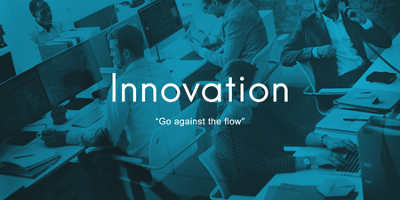 People at work with innovation concept