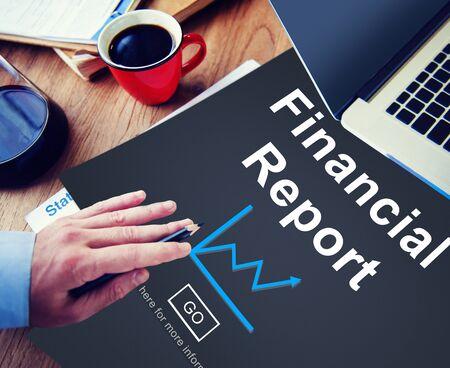 Rapport financier Cash Money Growth Analyse Concept