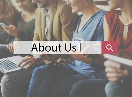 About Us Cantact Information Profile Service Concept